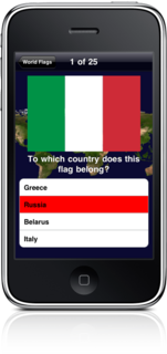 Learn the flags of the world on your iPhone