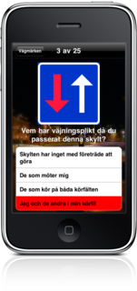 Learn the Swedish road signs on your iPhone!